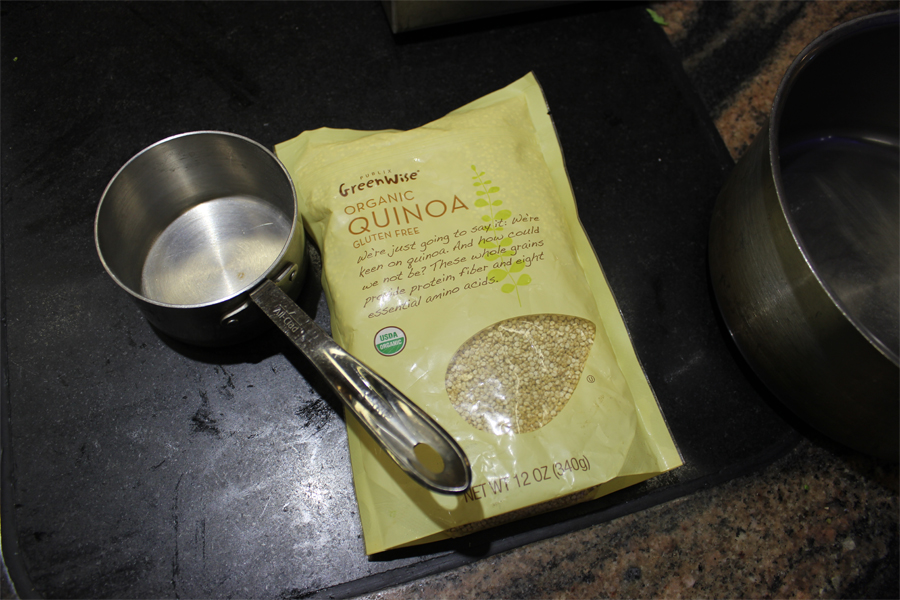 1 Cup - of any colour quinoa, or mixed colour.