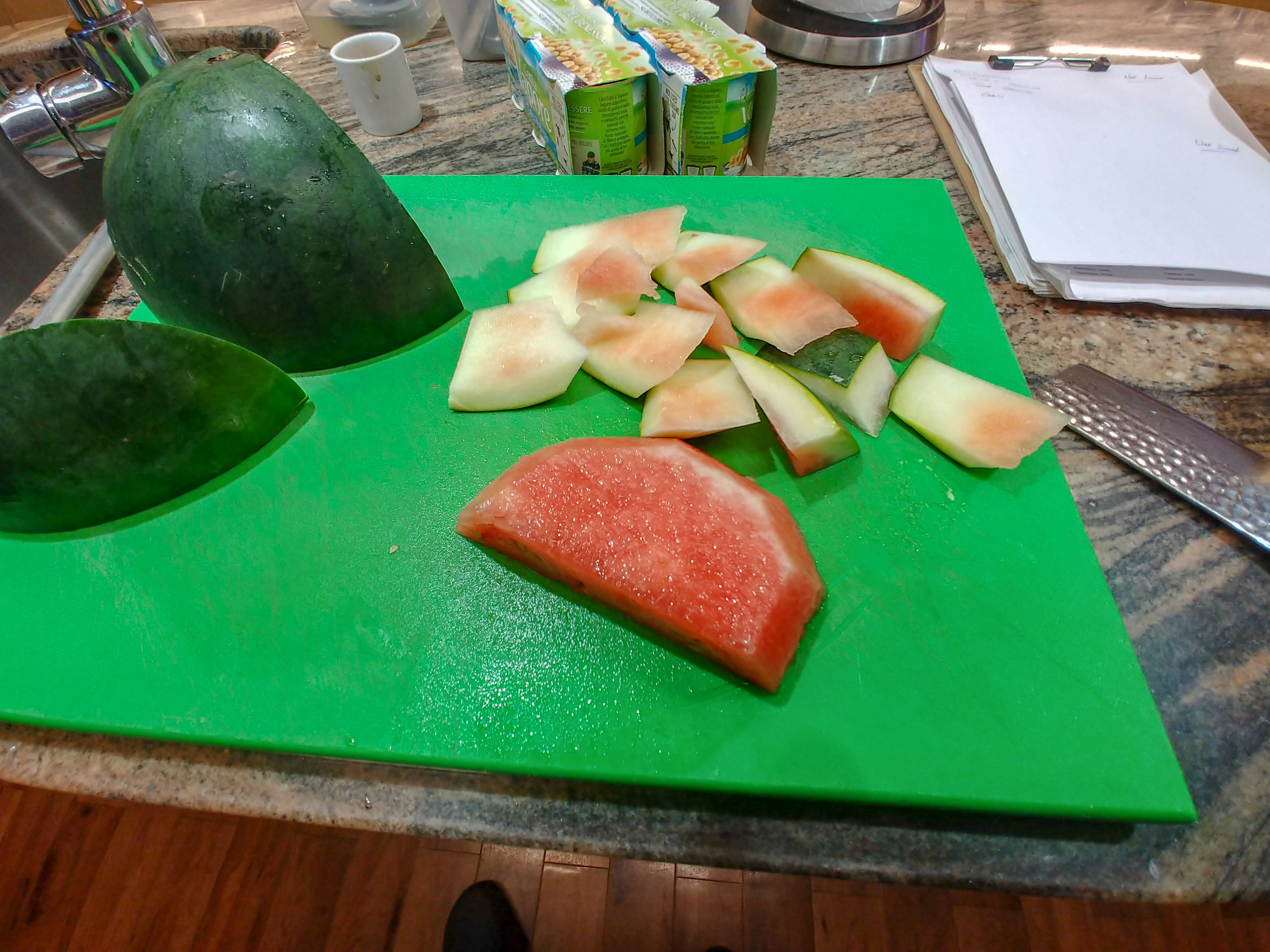 Peel - the watermelon