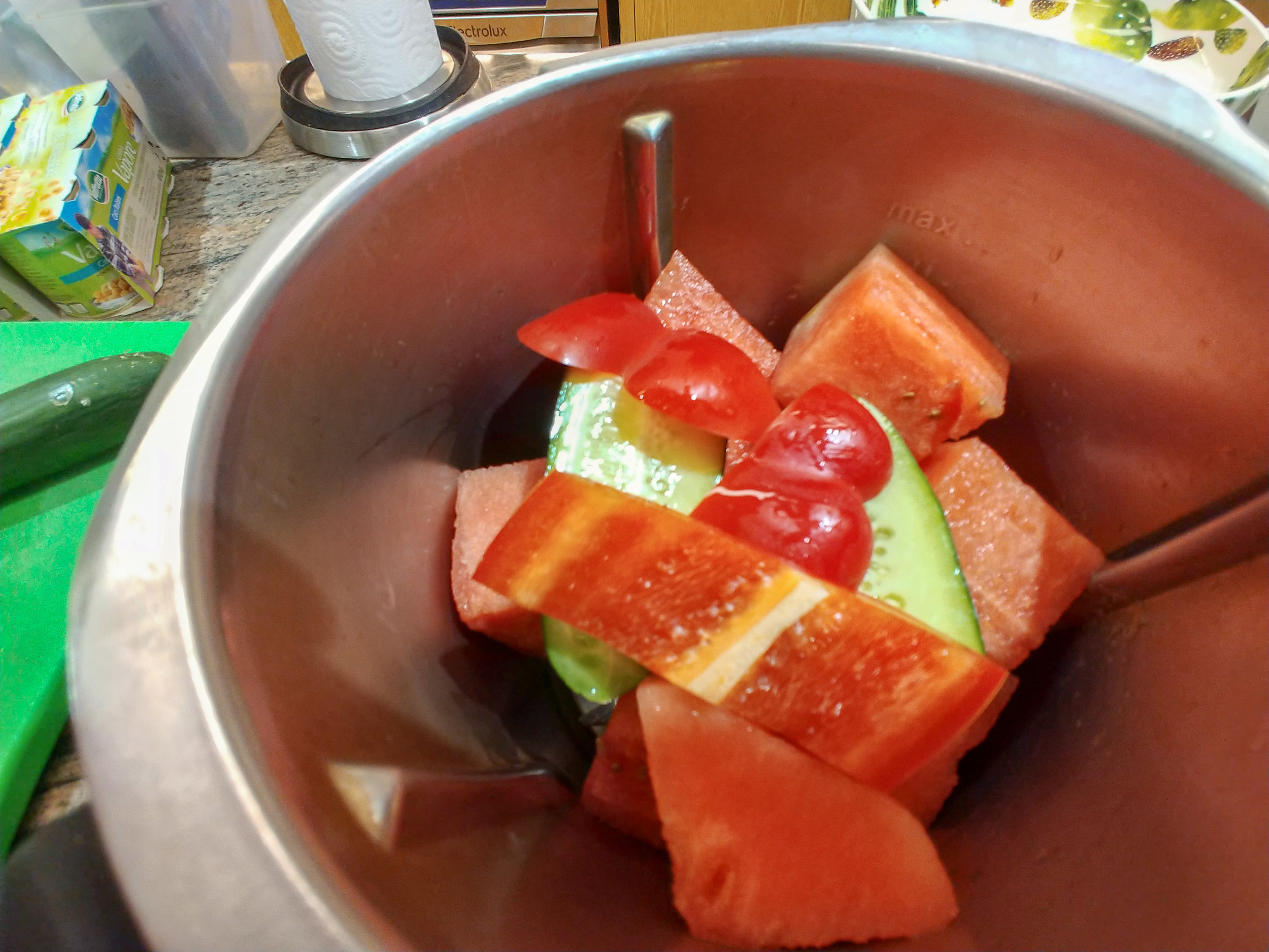 Add - deseeded red pepper.