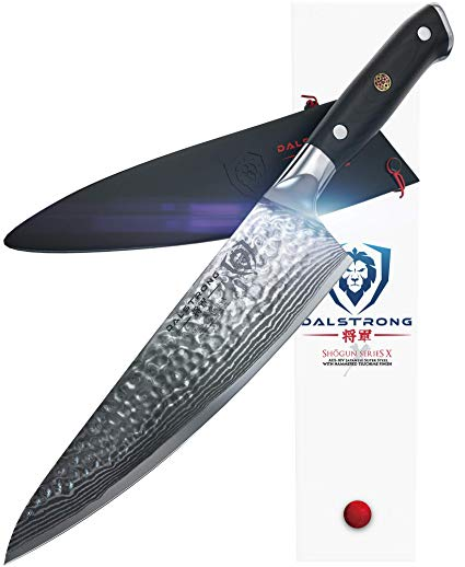 Dalstrong Chef's Knife - I have been reviewing and using these knives for a while now. They are cheaper than the usual Global or Shun brands. They are great quality and offer little extras. See my reviews below.
