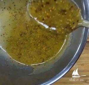 Grain Mustard - 1 tbsp Grain Mustard1 tbsp Honey1/2 Cup White Balsamic Vinegar2 Cup Extra Virgin Olive OilSalt & Pepper