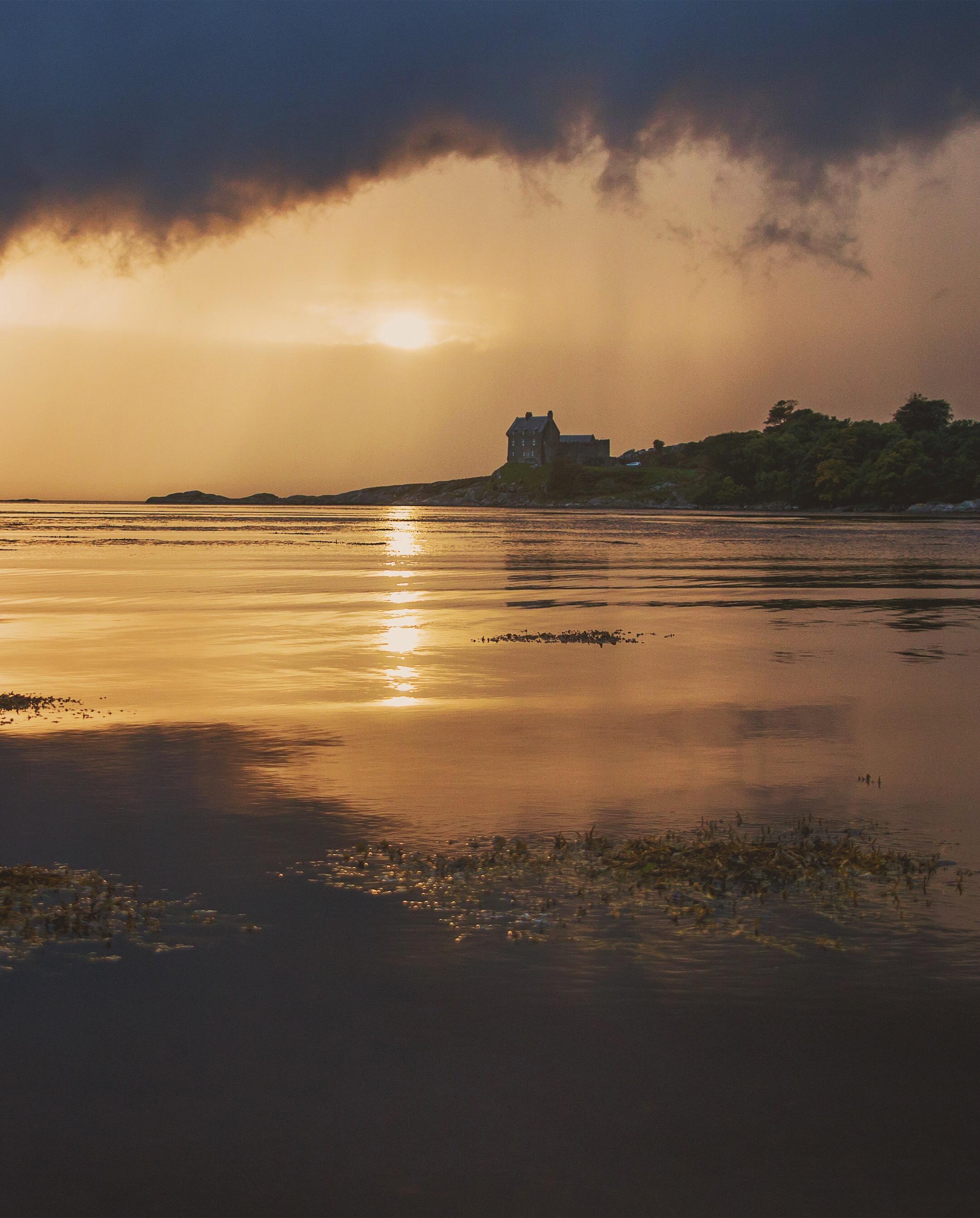 Storm approaching Duntrune Castle.