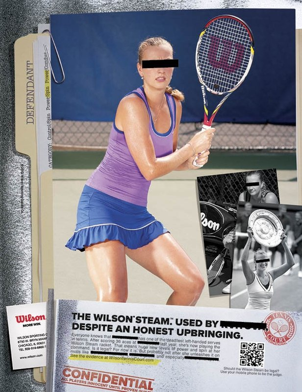 "Wilson sports ""Steam"" racket ad campaign."