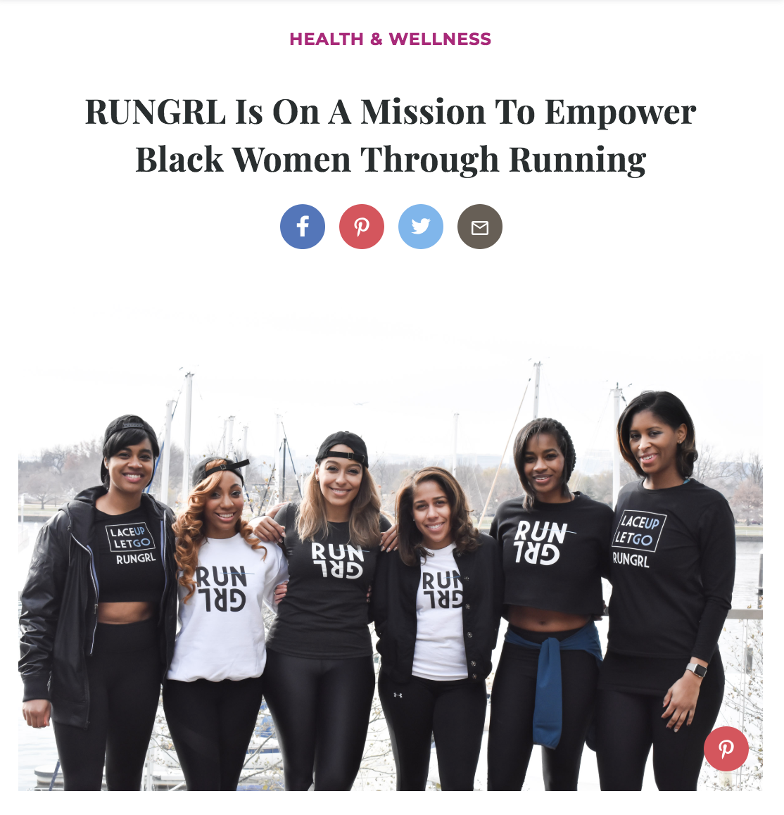 RUNGRL in the News   See the latest news clips and updates featuring RUNGRL.  Read more .