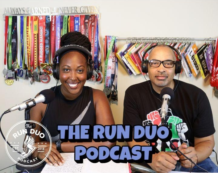India Cook with her co-host Tommy Mitchell on  The Run Duo Podcast . Photo: The Run Duo.