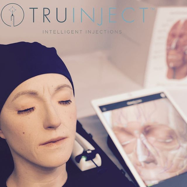 The TRUINJECT™ Platform consists of three integrated components: an anatomical model called 'Kate', a smart syringe and a comprehensive analytical software application with built-in 3D anatomy that communicates via Bluetooth for real-time injection feedback. Our innovative technologies allow practitioners to train in a simulated environment, instead of on a live person, for the first time ever. Learn more at www.truinject.com.  #truinject#eduKate#masterinjectors#allergan#revance#merz#intelligentinjections#3D#anatomy#since2013#kate#botox#voluma#xeomin
