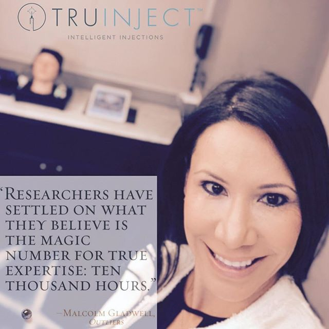 """Researchers have settled on what they believe is the magic number for TRUE expertise: 10,000 hours"" -Malcolm Gladwell. We're passionate about patient safety. That's why our CEO @gabrielle_rios developed 'Kate' in 2013. Register at www.truinject.com to be added to our growing list. We thank you for the love. ❤️#wednesdaywisdom #eduKate#gamechanging#allergan#revance#evolus#merz#botox#xeomin#goldstandard#besafe"