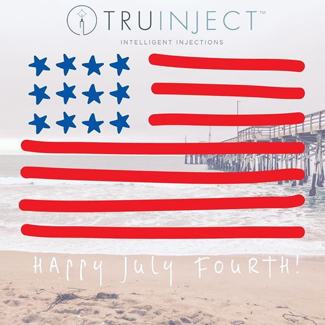 Bold stripes, bright stars, brave hearts. . . . Happy Birthday, America! #4thofjuly #besafe#truinject#newportbeach