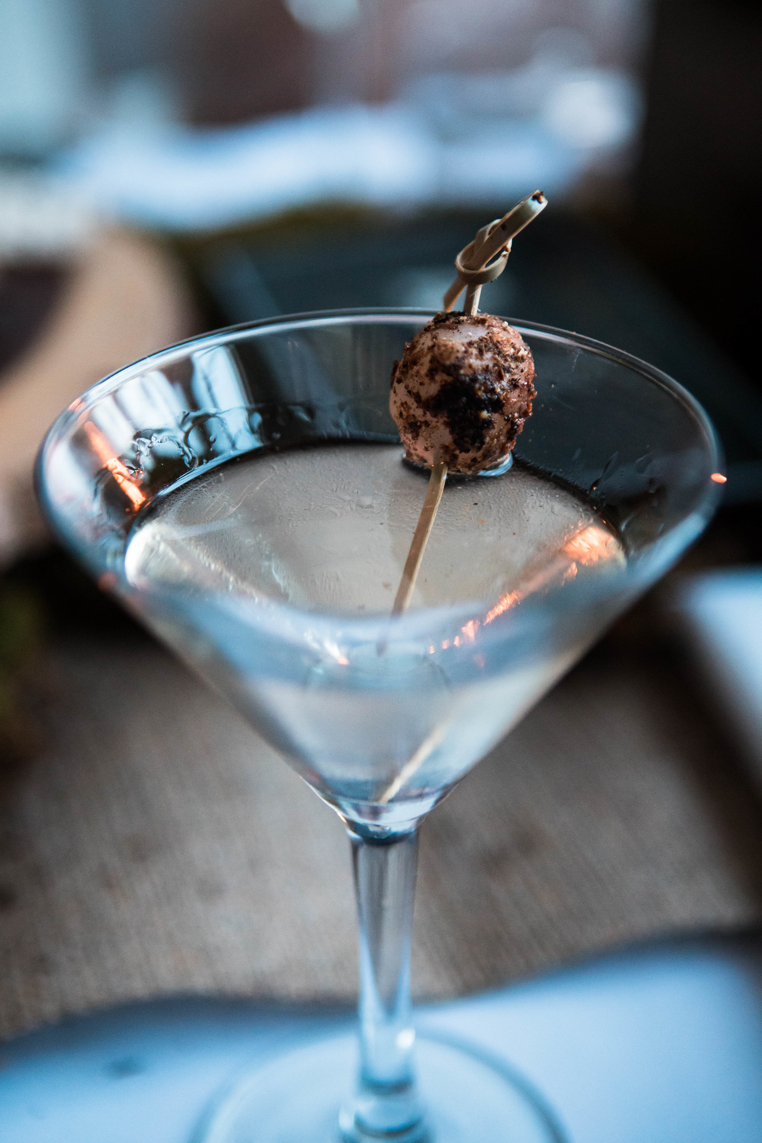 Gibson Martini mixed with Absolut Vodka