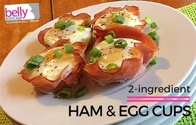 2-ingredient ham & egg cups - Uber fast but fancy enough for brunch guests!