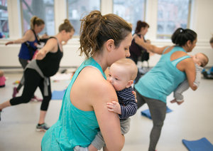 BB mommies strengthen & tone in an upright position that's tummy-friendly & perfect for carrying fussy babies... proof it is possible!
