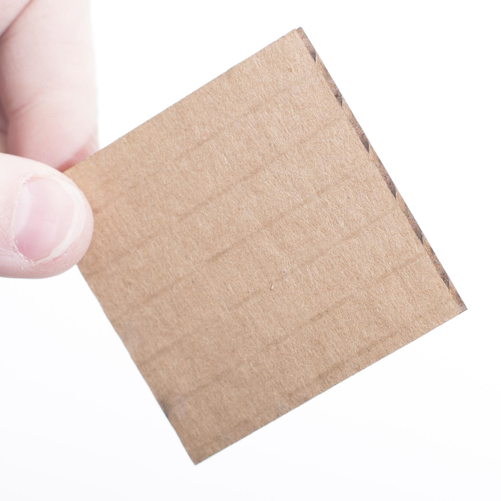 Laser Cut Cardboard sample square