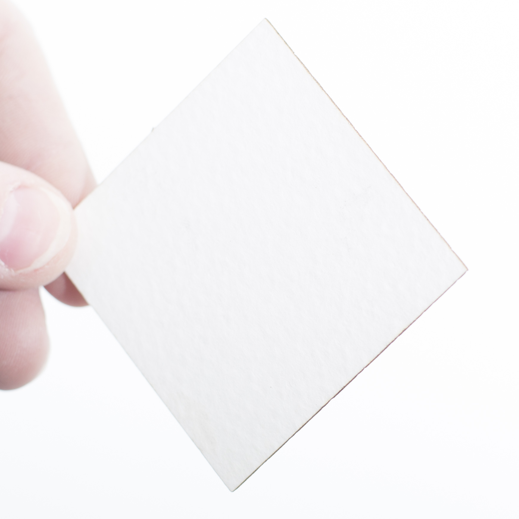 White laser sample for laser cutting or laser etch or engraved pieces