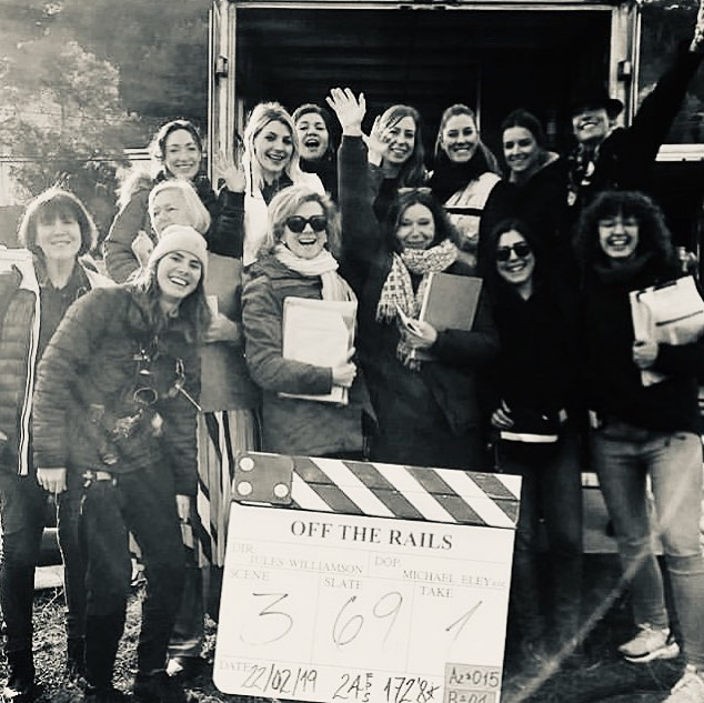 Very proud to be on set with all these amazing women for #offtherailsfilm on #femalefilmmakerfriday ! Thank you to all the team and can't wait to see the finished product! 💝