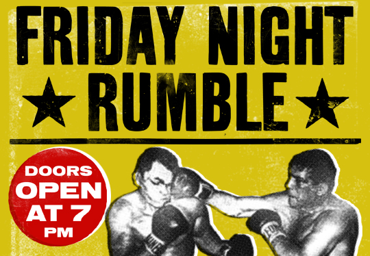 Fridays 7pm - The Friday Night Rumble has been a tradition since JHOP DC began. Every Friday evening we gather at 7PM for worship, teaching, encouragement and intercession.Caution: It might get loud.