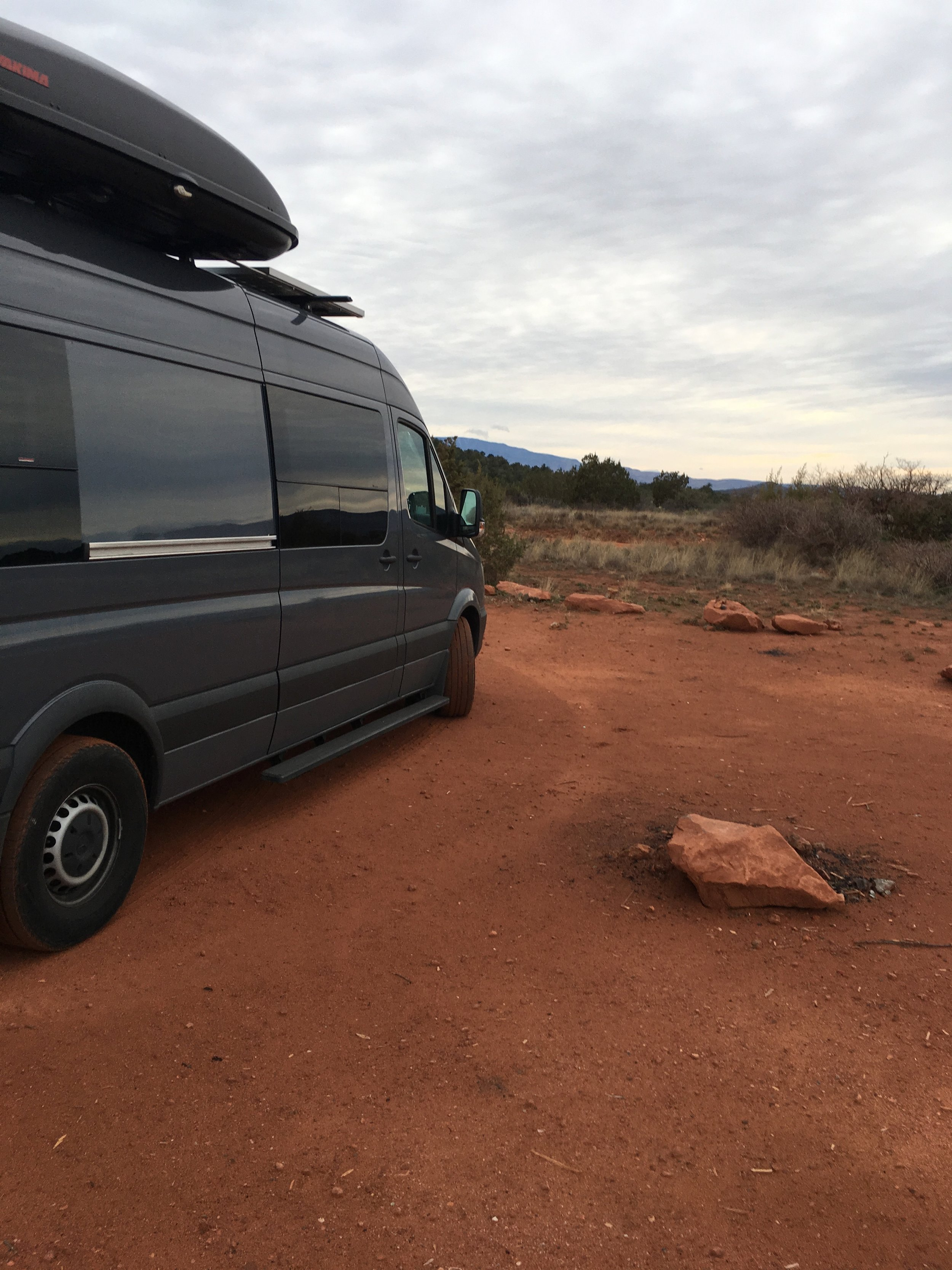 We had intermittent cell signal in Sedona on BLM land and could not work there.