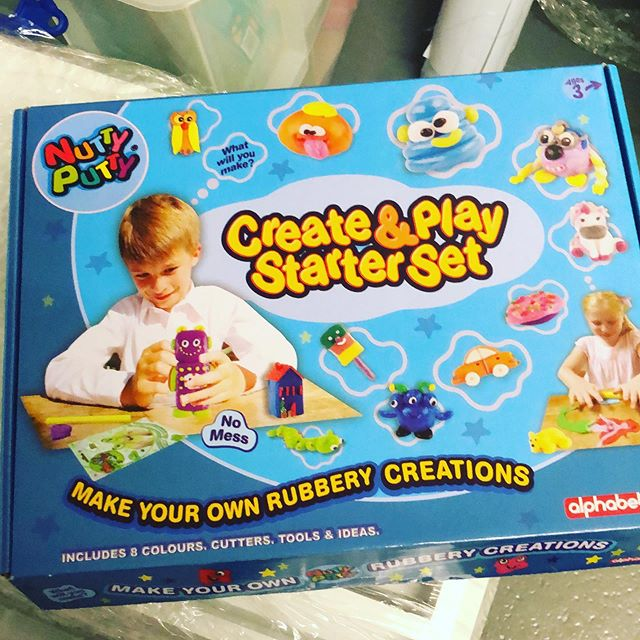 Now back in stock ready for Christmas. Nutty Putty. Non messy mouldable and creations turn to rubber. #christmastoys #christmaspresentideas #kidspresents #nomessputty