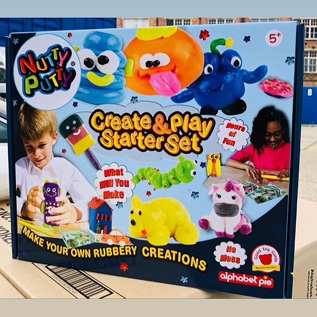 It's back in stock. We just can't keep up with the demand. Grab your Nutty Putty Create and Play set from your nearest retailer or online. #creativeplay #artsandcraftsforkids #toyideas #schoolprojects #homeschool #creativekidstuff #toyshops #rubberywhenbaked