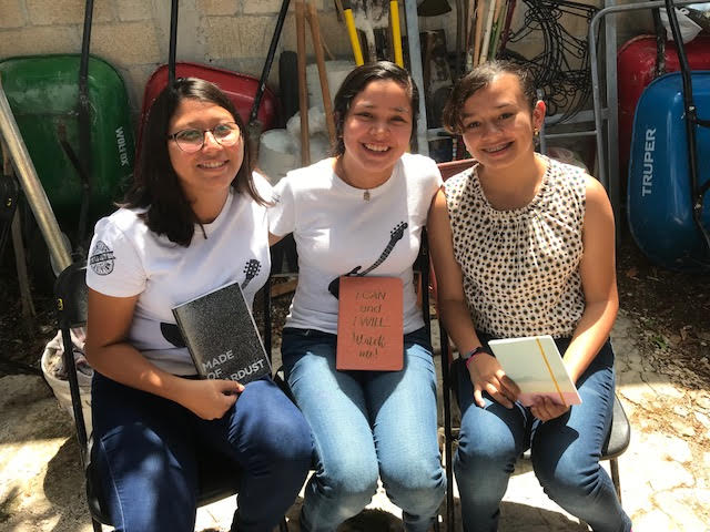 L2L4C  is proud to say that our prayers were answered as we contributed 120 journals to the Mayan Community in Tizmin, Mexico. Photo courtesy of DCI Missions at The Youth Conference May 2018.