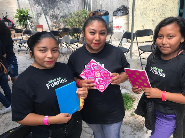 Tizmin Ladies recieve thier journals  (Photo courtesy of DCI Missions)