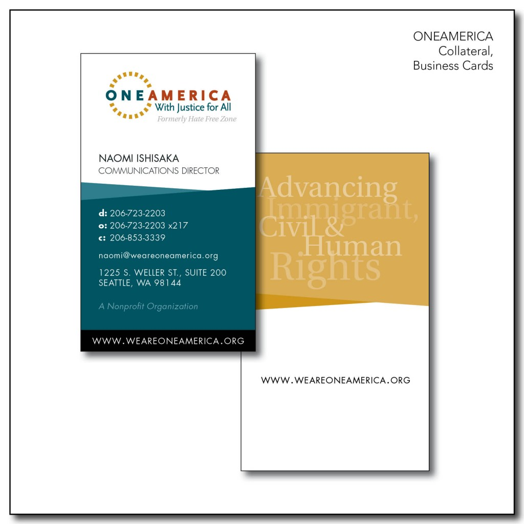 OneAmerica Collaterals - Business Cards