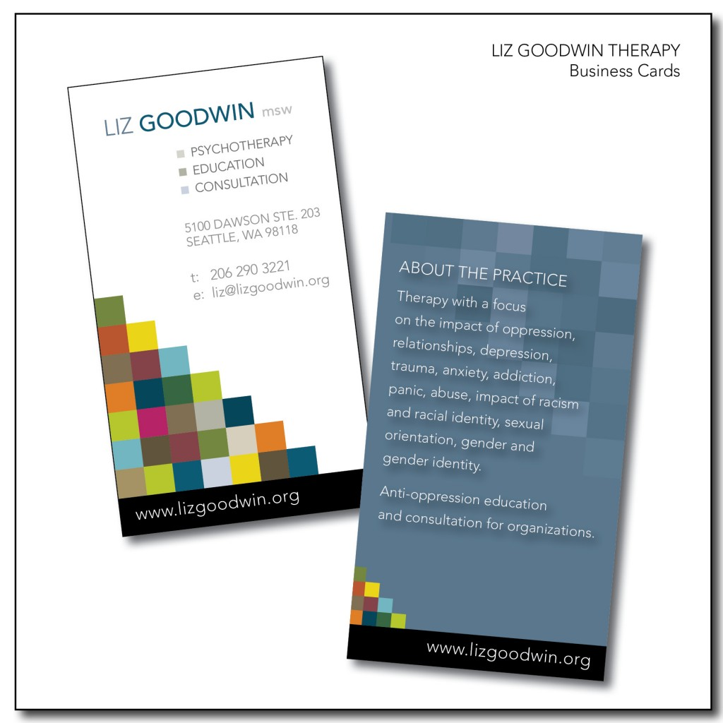 Liz Goodwin Therapy Business Cards