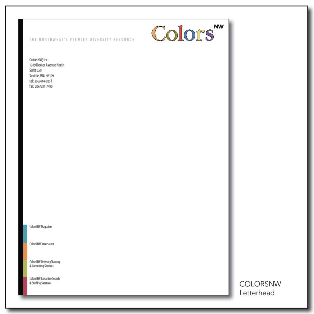 ColorsNW Letterhead