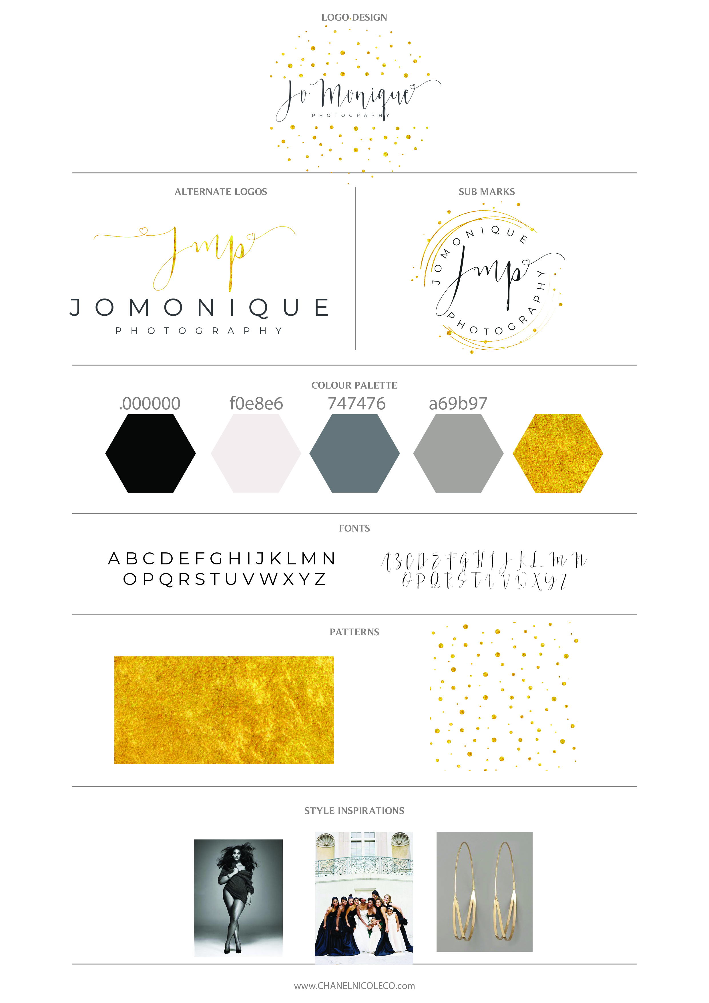 gold branding for photography business styled by Chanel Nicole Co.