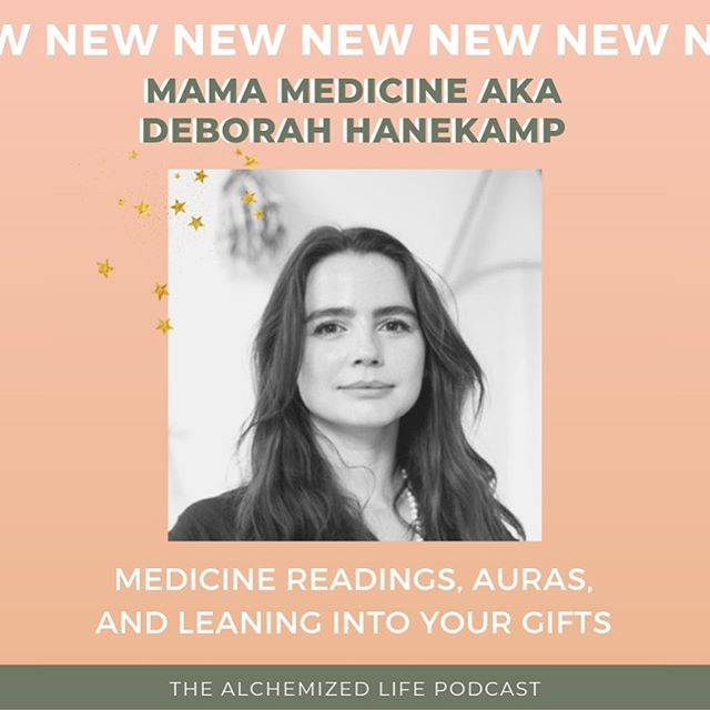 @mamamedicine is on the podcast this week and I'm not even sure where to start. Her energy, her experiences, her alchemy of ancient practices and rituals - she brought it all in this conversation. . Deborah Hanekamp AKA @mamamedicine is the founder of @spacebymamamedicine and facilitates medicine readings that integrate over 17 years experience and wisdom in the healing arts. . We talk today on the power of rituals, why you should lean into your unique abilities, and how you can be empowered as your own healer. LINK IN BIO ✨🙏🏻 thank you @mamamedicine for joining the Alchemized Life fam! #TheAlchemizedLife