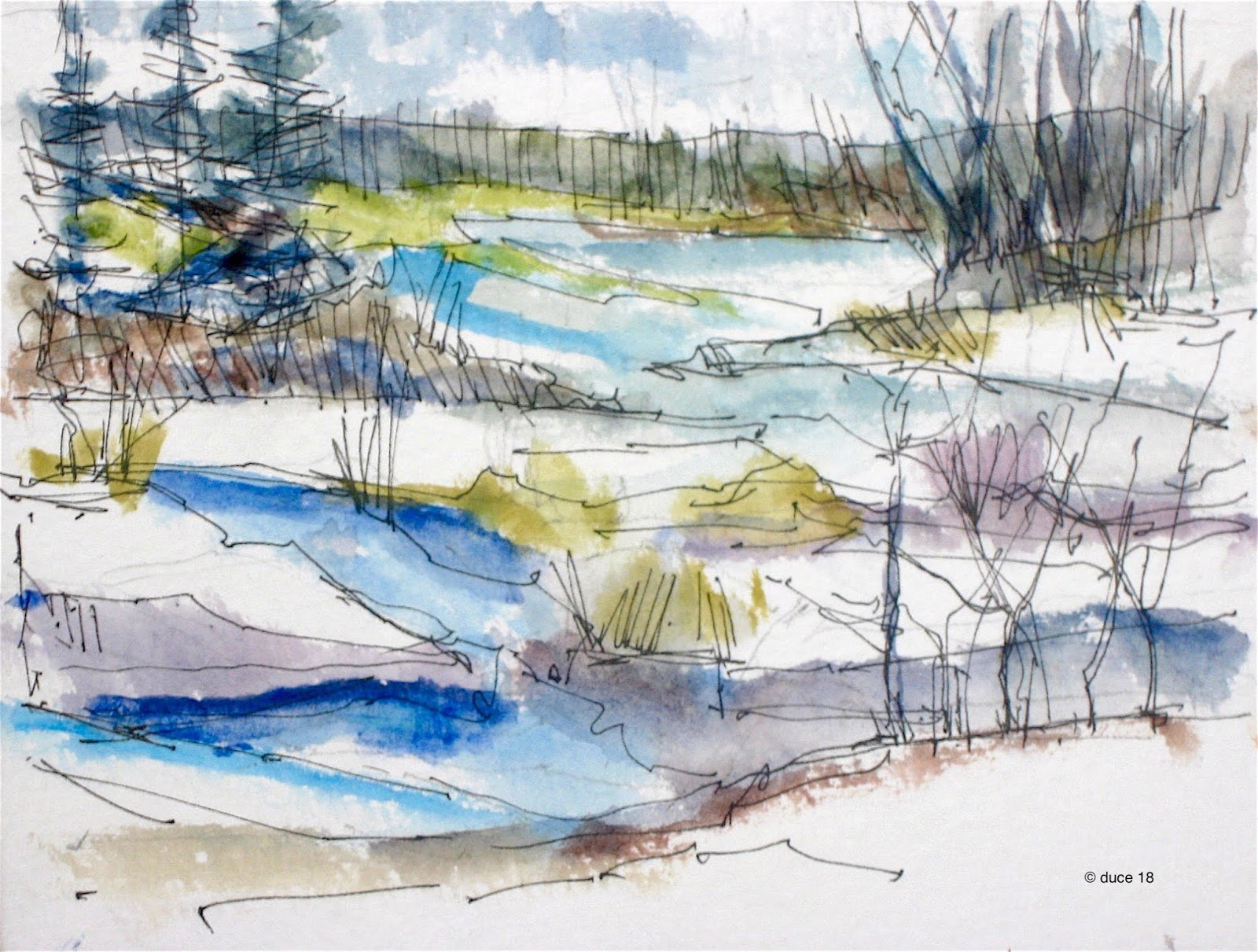 Winter River, December 10, 2018 - Anthony Duce,  https://tonyducesart.blogspot.com