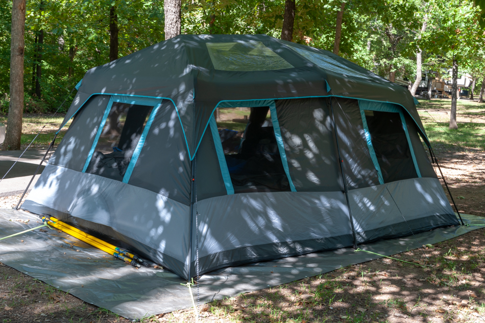 Our Ozark Trails Dark-rest tent