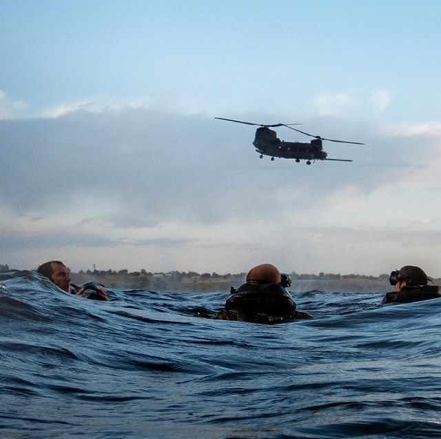 Over water training with 10th group. 📸 10th group COMCAM.