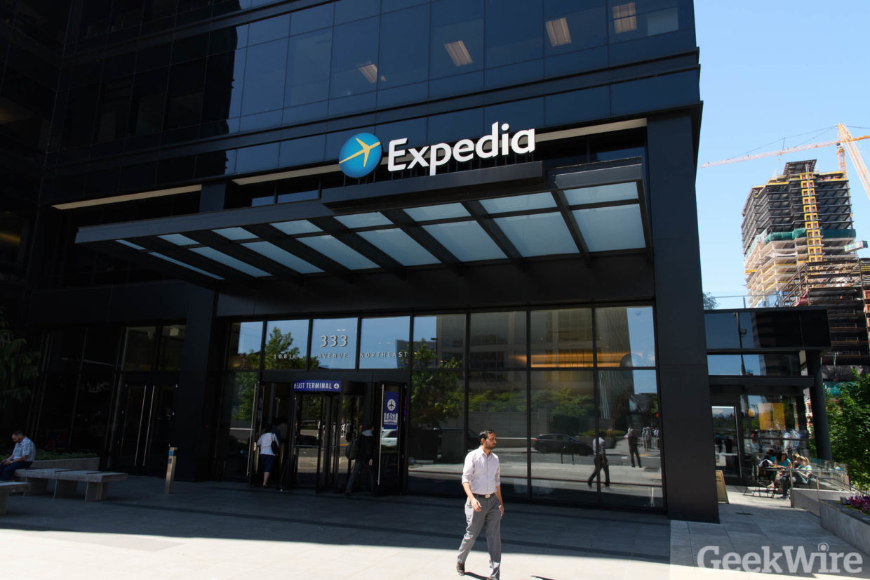 Expedia's Bellevue headquarters will soon be occupied by Amazon. (GeekWire Photo)