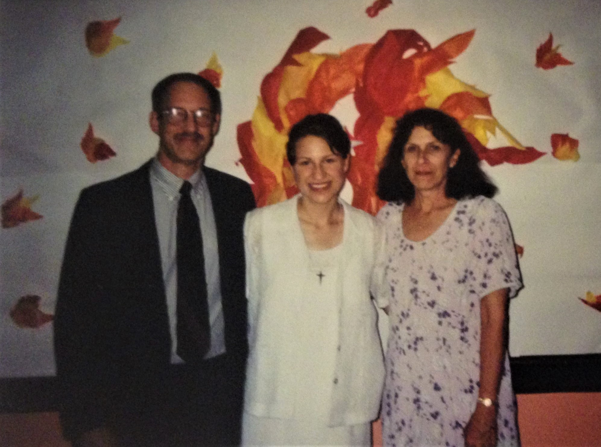 My parents and I at my first vows.