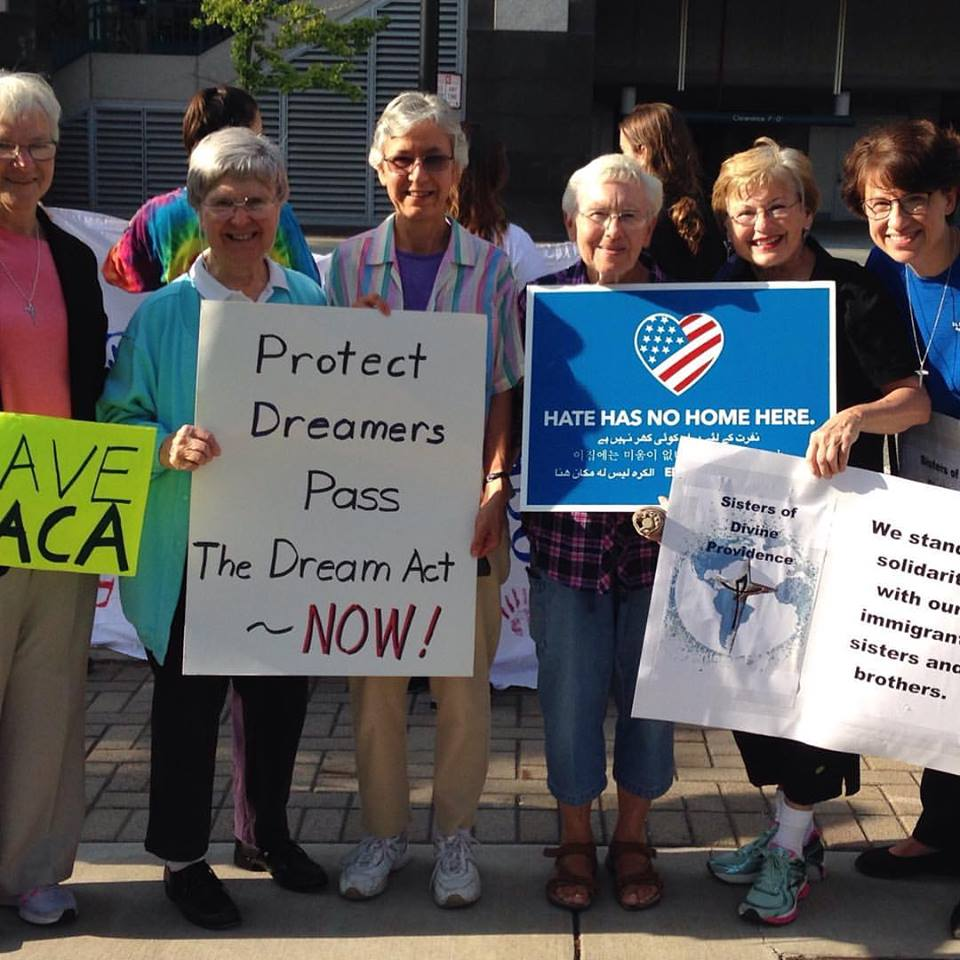 Sisters and Associates of Divine Providence together at a rally