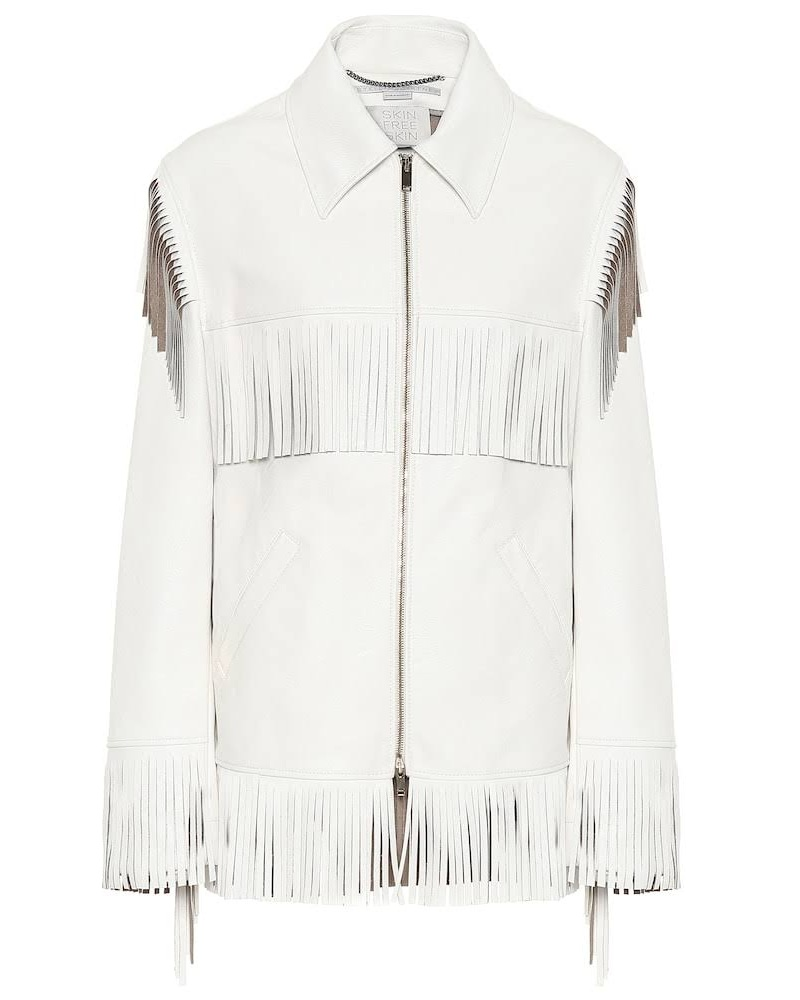 Fringed Faux-Leather Jacket //  Stella McCartney