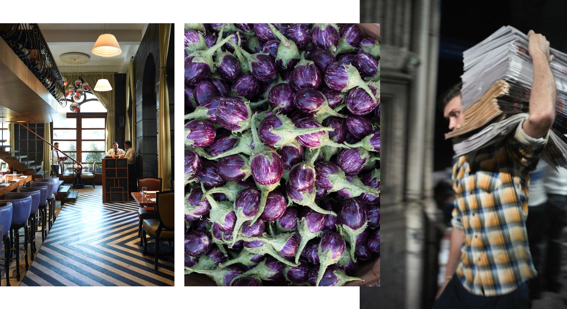 Photos: The Table, Vegetable Market + Newspaper Sorting by Björn Wallander