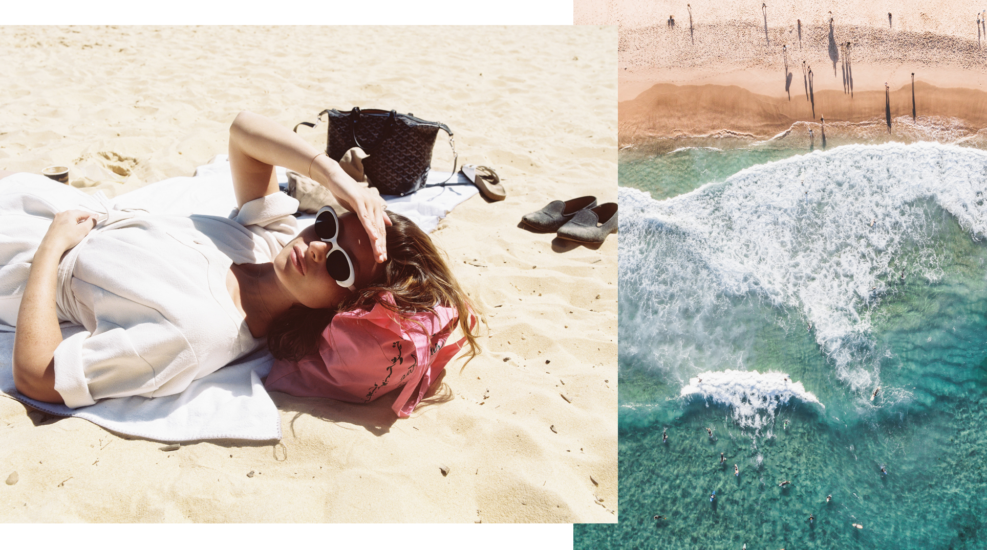 Photos (L-R): Aly Michalka (at Tamarama Beach) // Silas Baisch