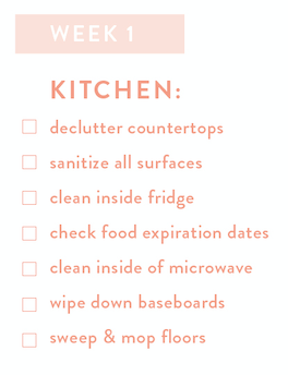Kitchen Checklist