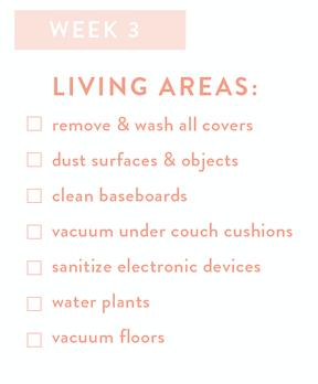 Living Areas Checklist