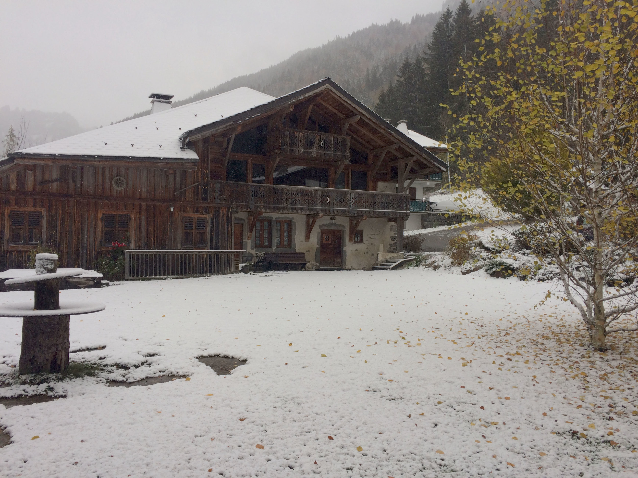 First snow of the winter -