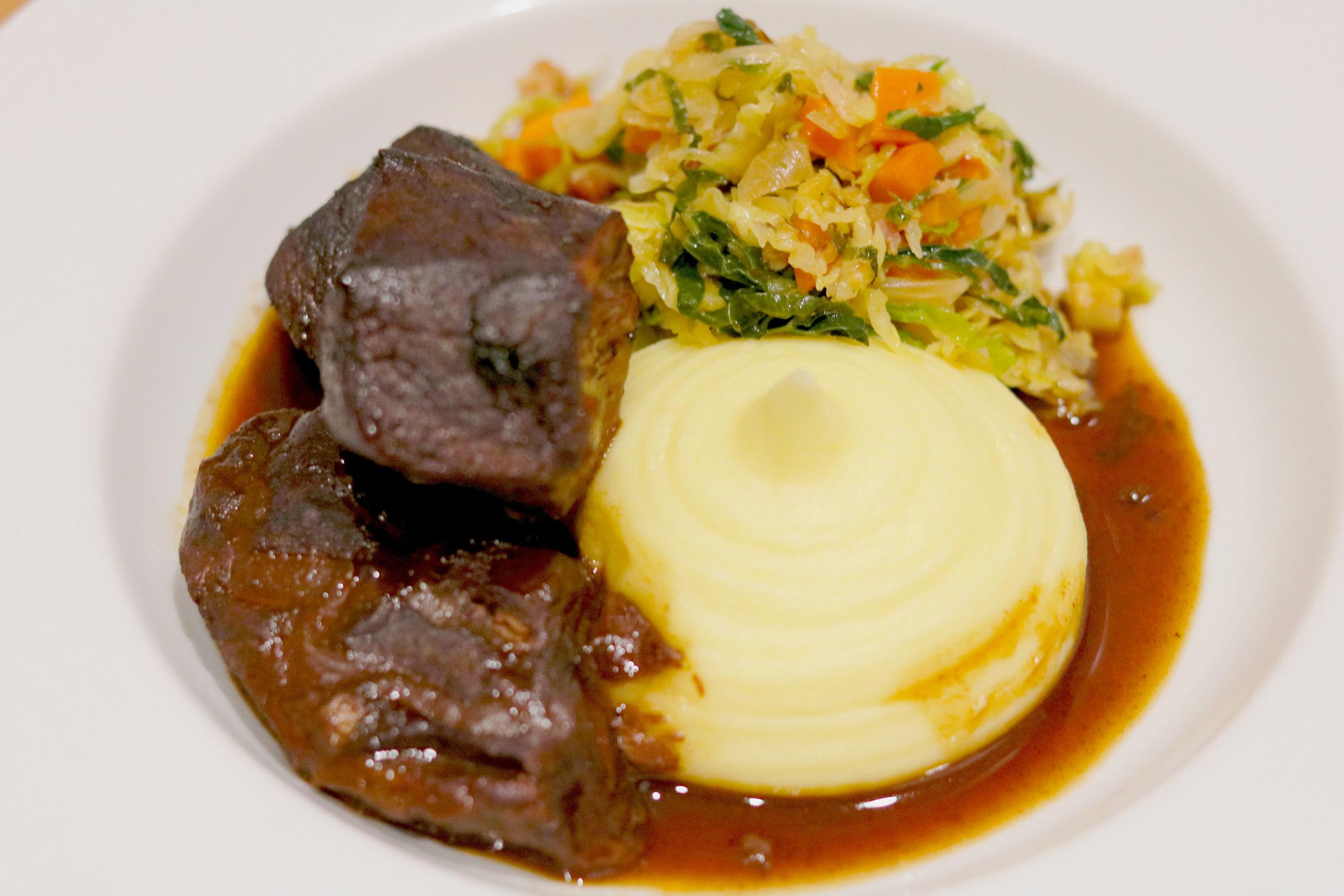 Red Wine Braised Beef (bourguignon) -