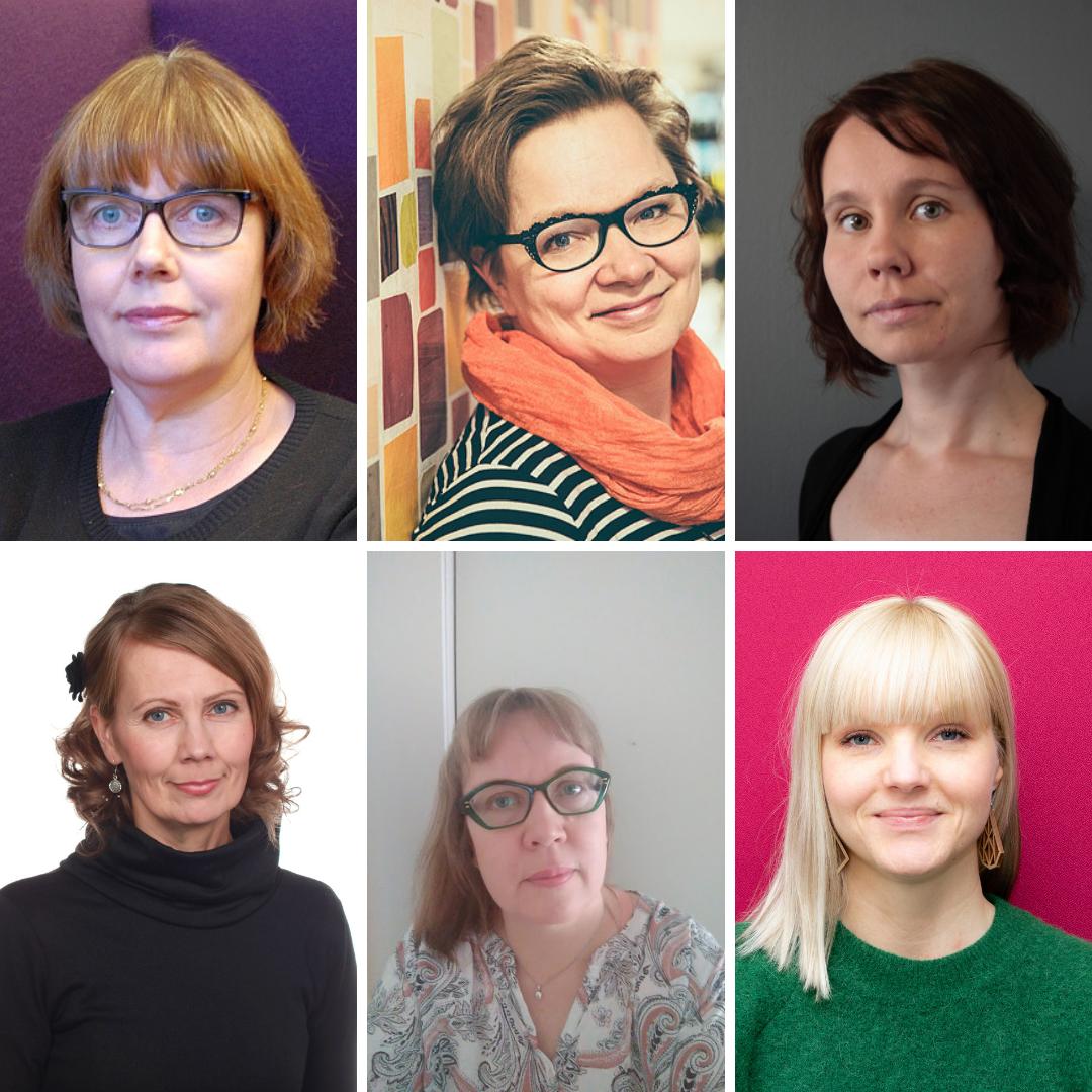 Seija Utriainen, Tuulevi Ascahan, Laura Hokkanen,  Kati Vapalahti, Sirpa Ylönen ja Jatta Juhola