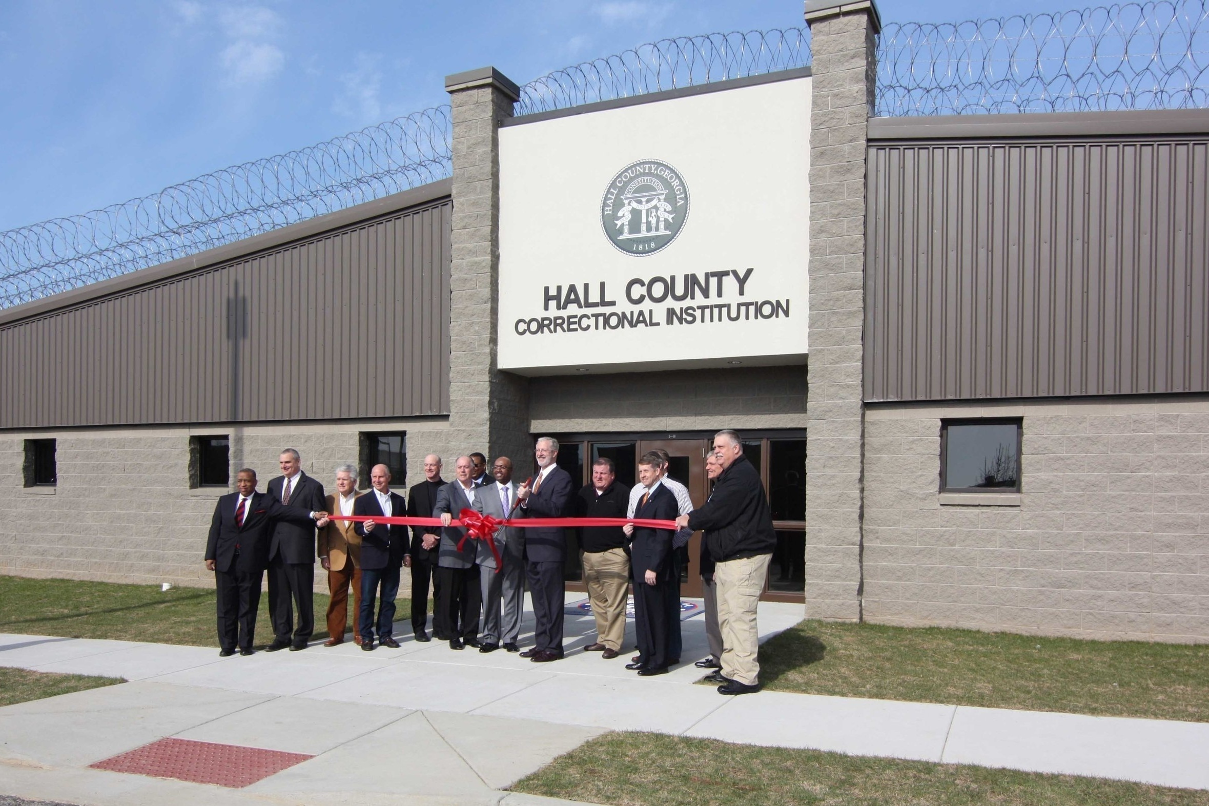 Ribbon Cutting was Held for the Hall County Correctional Institution in Gainesville, Georgia