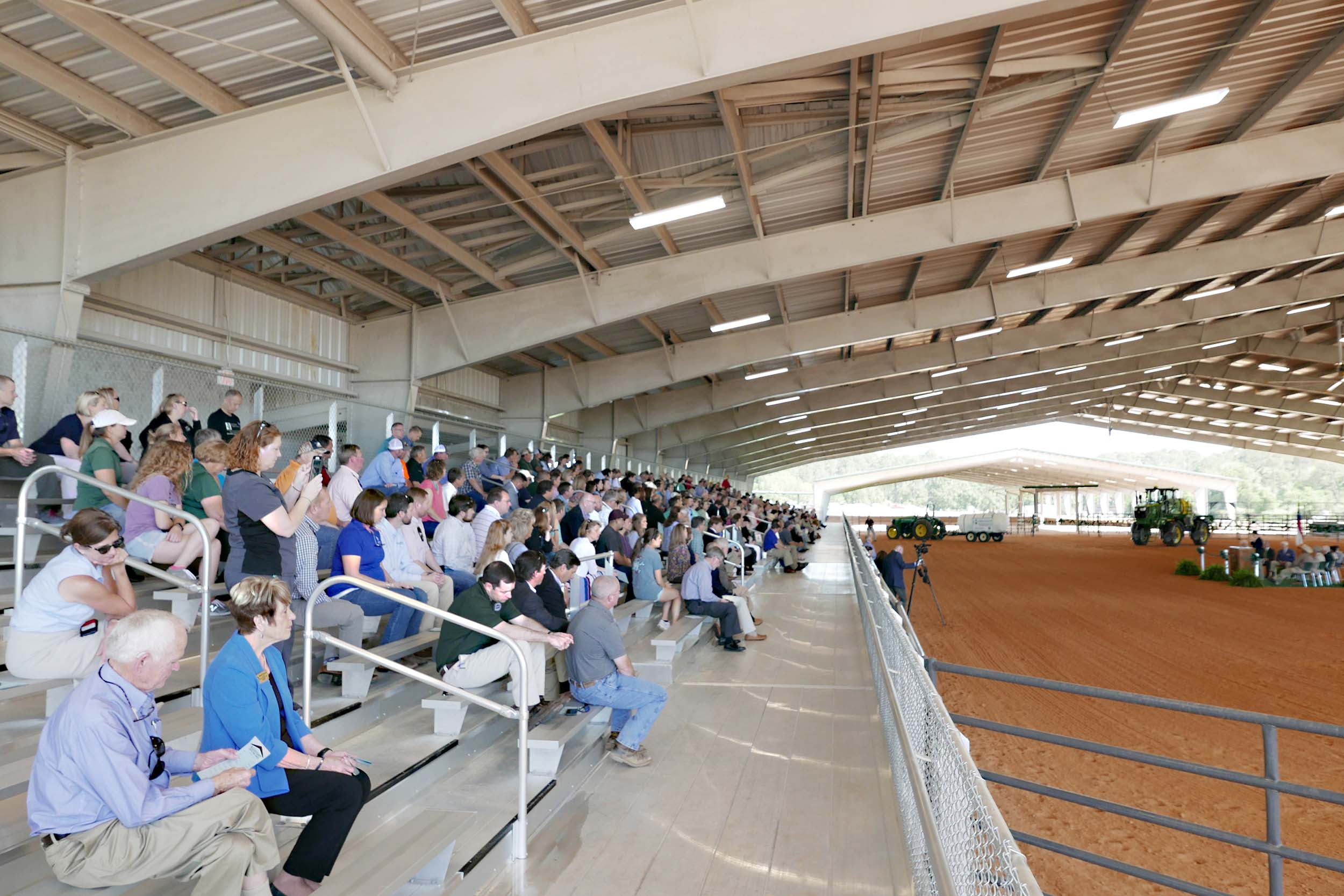 Several hundred people attend the ribbon cutting for the new Bulloch County Agricultural Center