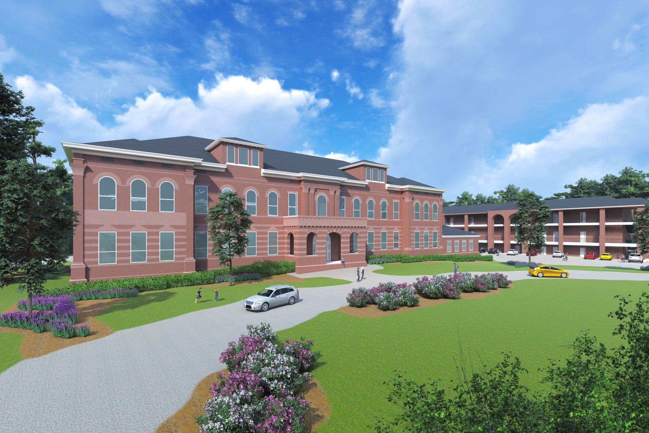 Rendering of Historic Howell School Renovation and Adaptive Reuse