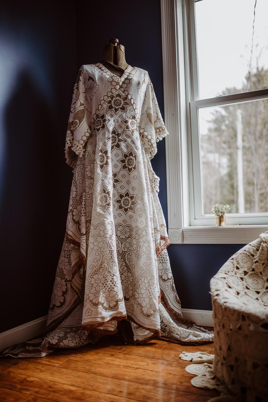 Bohemian Dress Hand Sewn