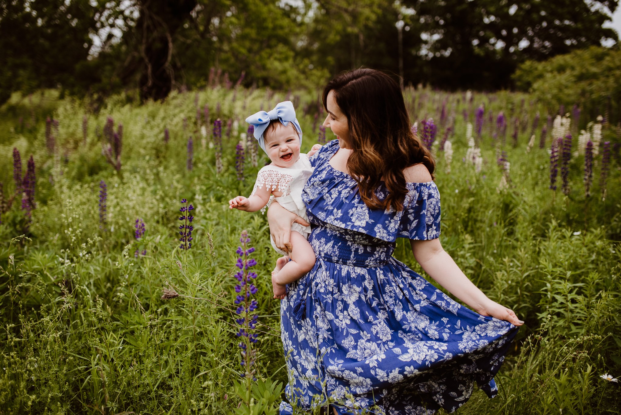 Lupine Photography Corinna Maine Mommy & Me Baby Dress Bow