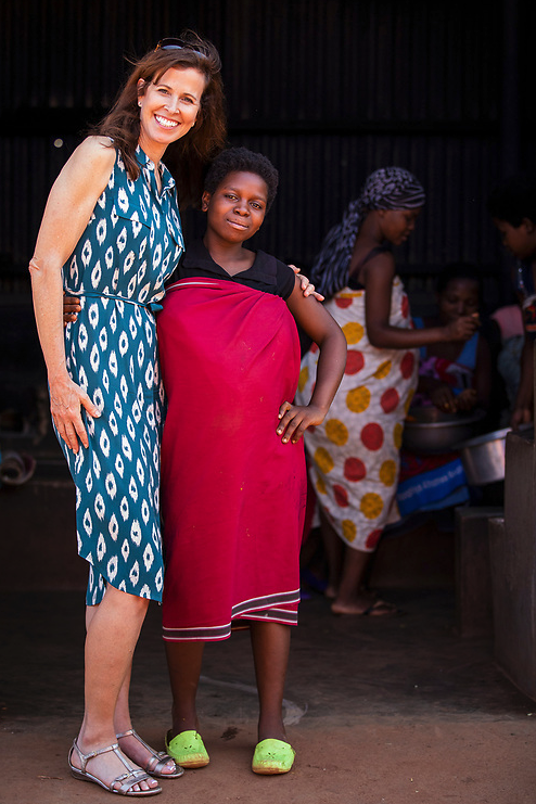 Sharon Allen & Malawi maternity patient
