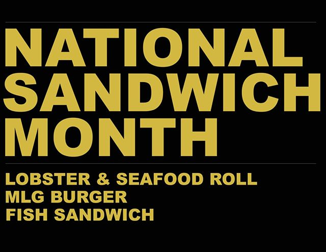 Did you know it was National Sandwich Month?  You learn something new every day.  Try our mouthwatering lobster & seafood roll, MLG burger or fish sandwich today.  #Nationalsandwichmonth #MLGChicago